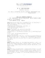 Đề thi trắc nghiệm tín dụng ngân hàng agribank 2010 (có đáp án)