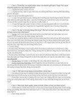 Mốt số câu hỏi và đáp án môn logic học