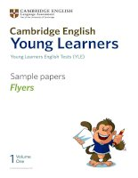Young learners English Test ( YLE) - Sample papers Flyers