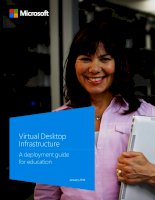 Virtual Desktop Infrastructure: A deployment guide for education
