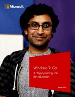 Windows To Go: A deployment guide for education