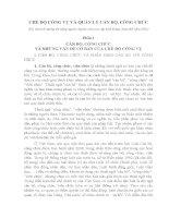 CHẾ độ CÔNG vụ và QUẢN lý cán bộ CÔNG CHỨC tài liệu bồi dưỡng thi nâng ngạch chuyên viên cao cấp khối đảng đoàn thể năm 2011