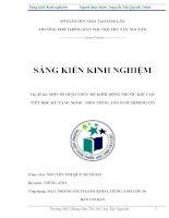 skkn skkn một số hình thức để khởi động trước khi vào tiết học kỹ năng nghe - môn tiếng anh 10