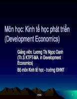 Kinh tế phát triển - Chương 1