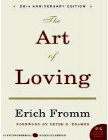 art of loving the   erich fromm