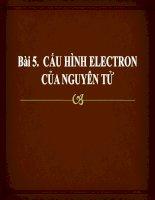 Bài 5. Cấu hình electron nguyên tử