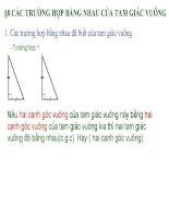 Bài 8 Trường hợp bằng nhau của tam giác vuông