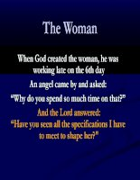 God talk about woman
