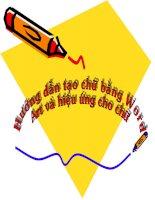 Cách tạo chữ bằng Word Art và hiệu ứng cho chữ