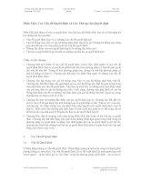 Các Vấn đề Quyết định và Các Thủ tục Ra Quyết định
