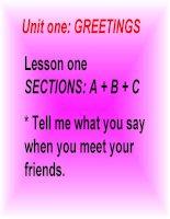Bài 1: Greetings