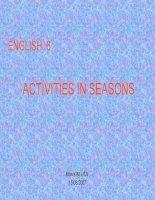 Unit 13: Activities in seasons