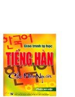 Tiếng Hàn sơ cấp học tiếng Hàn