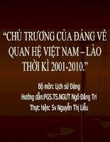 Quan hệ Việt Nam - lào