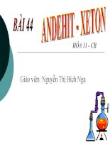 bai 44 Andehit-xeton (HOT HOT!)