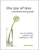 the joy of less a minimalist living guide how to declutter   francine jay