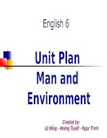 Unit 16: Man and the environment.