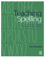 Teaching spelling  exploring commonsense strategies and best practices (2014)
