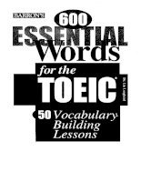 600 Essential Words for the TOEIC Part 1 potx