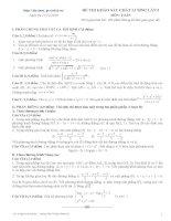 ôn thi đại học toán số 1