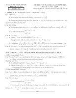 Đề thi thử môn toán khối A năm 2011 - đề số 3 pdf
