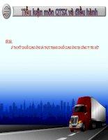 Phương pháp quản trị chuỗi cung ứng ở công ty Tre Việt