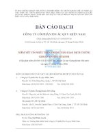 BẢN cáo BẠCH CÔNG TY cổ PHẦN PIN ắc QUY MIỀN NAM NIÊM yết cổ PHIẾU TRÊN TRUNG tâm GIAO DỊCH CHỨNG KHOÁN TP hồ CHÍ MINH giấy phép niêm yết số 69 UBCK GPNY do chủ tịch ủy ban chứng khoán nhà nước cấp ngày 09 tháng 11