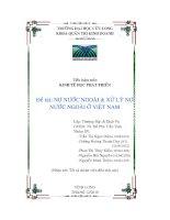 Tiểu luận Nợ nước ngoài và xử lý nợ nước ngoài ở Việt nam