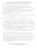 Tuyển chọn các bài toán Hình học giải tích trong mặt phẳng doc