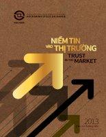 SỞ GIAO DỊCH CHỨNG KHOÁN THÀNH PHỐ hồ CHÍ MINH hochiminh stock exchange niềm tin vào thị trường trust in the market báo cáo thường niên annual report 2013