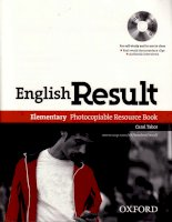 english result elementary workbook photocopiable resource book