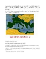 Sử 10-Bài 10:THỜI KỲ HÌNH THÀNH VÀ PHÁT TRIỂN CỦA CHẾ ĐỘ PHONG KIẾN TÂY ÂU (từ thế kỷ V đến thế kỷ XIV) pdf