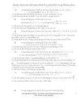 Tuyển chọn các bài toán hình học giải tích trong không gian ppt