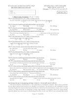 ĐỀ KIỂM TRA 1 TIẾT 2/HKI-2011 MÔN: TIẾNG ANH 12CB - MÃ ĐỀ: 231 pptx