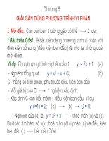 Chương 6: Giải gần đúng phương trình vi phân pptx