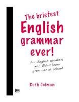 the-briefest english grammar ever