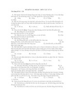 ĐỀ KIỂM TRA HKII – MÔN VẬT LÝ 12 Nội dung đề số : 124 ppt