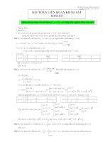 bài toán liên quan khảo sát hàm số 12