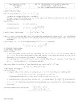 Đề thi thử môn toán khối A năm 2011 - đề số 6 potx