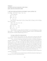 CÁC MÔ HÌNH VÀ PHẦN MỀM TỐI ƯU - CHƯƠNG 2 ppsx