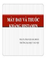 BÁO CÁO: MÀY ĐAY VÀ THUỐC KHÁNG HISTAMIN doc
