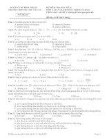 ĐỀ KIỂM TRA HỌC KỲ II MÔN VẬT LÝ 12 - MÃ ĐỀ 301 pptx
