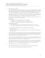 CÔNG TY cổ PHẦN PIN ắc QUY MIỂN NAM THUYẾT MINH báo cáo tài CHÍNH cho năm tài chính kết thúc vào ngày 31 tháng 12 năm 2007