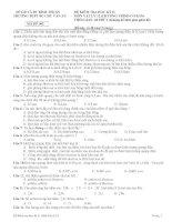 ĐỀ KIỂM TRA HỌC KỲ II MÔN VẬT LÝ 12 - MÃ ĐỀ 302 docx