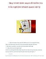 Quy trình biên soạn đề kiểm tra trắc nghiệm khách quan vật lý pdf
