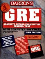 Brownstein S., et al. Barron''''s GRE.12th.ed.(Barrons)(669s)(1997) Episode 1 Part 1 pdf