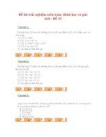 Đề thi trắc nghiệm môn toán: Hình học và giải tích - Đề 10 docx