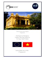 Final Report on Participatory Tourism Value Chain Analysis in Da Nang, Central Vietnam ppsx