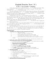 English Practise Test ( 11 ) Unit 3 : Everybody's jogging doc