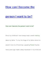 How can I become theperson I want to be? pdf